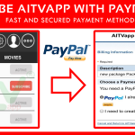 Subscribe AITVapp with PayPal now !